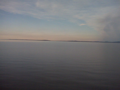lake champlain, scene from a train by sabonseine