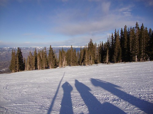Shadows on Snowmass Mountain