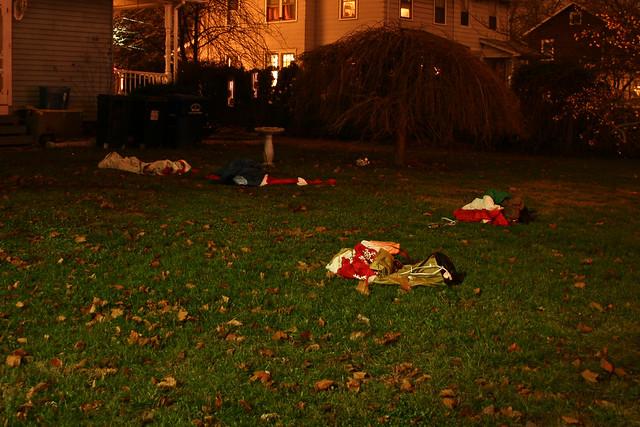 Inflatable graveyard