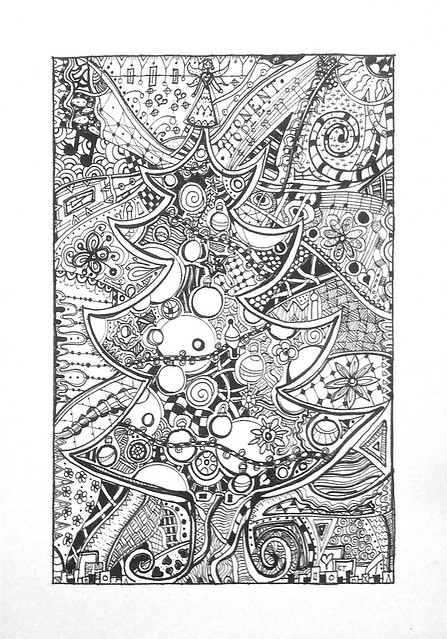 Christmas Tree Zentangle Flickr Photo Sharing