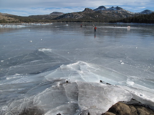 frozen Caples Lake