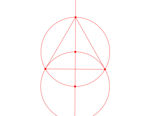 A triangle in a circle