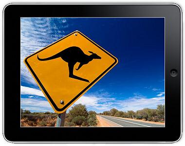 Australian outback on the iPad
