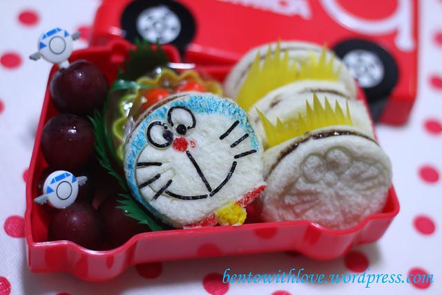 Doraemon Sandwich Bento for him