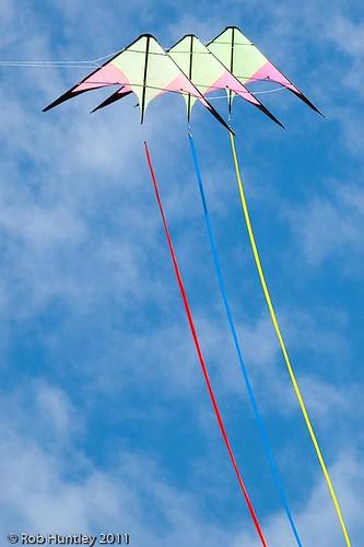 Stunt kite at the Windscape Kite Festival 2011