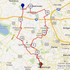 03. Bike Route Map. Somerset Valley YMCA, Hillsborough, NJ