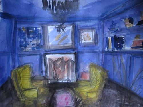 Blue Violet Imaginary Living Room