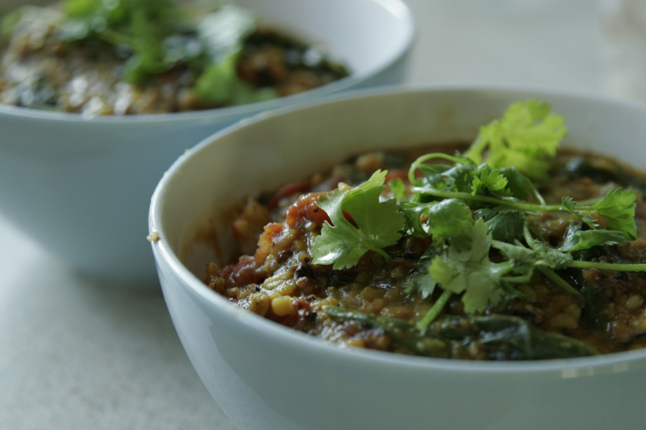 Dal Palak with Spinach
