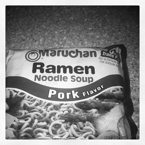 #febphotoaday #dinner I had ramen. Except mine was chicken. But I threw the pack away.