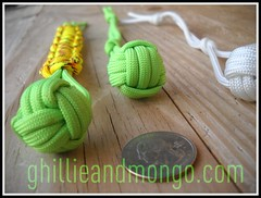 Monkey Fist with Paracord Bracelet Handle