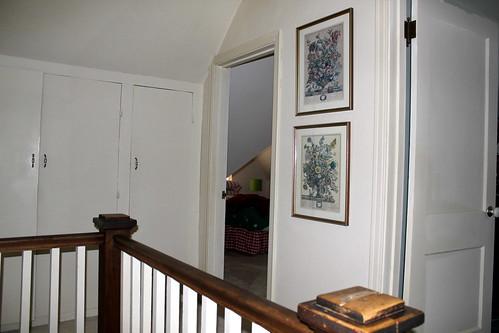 right door is bedroom #1, left #2