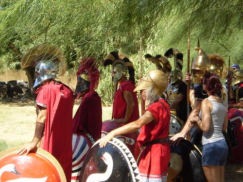greek hoplite reenactors
