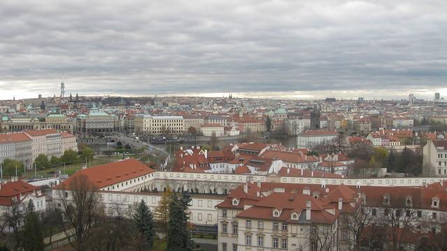 Old Town and Valdštejnský palác (Wallenstein palace)
