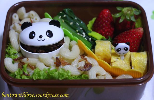 Macaroni Soup Bento with Pandas