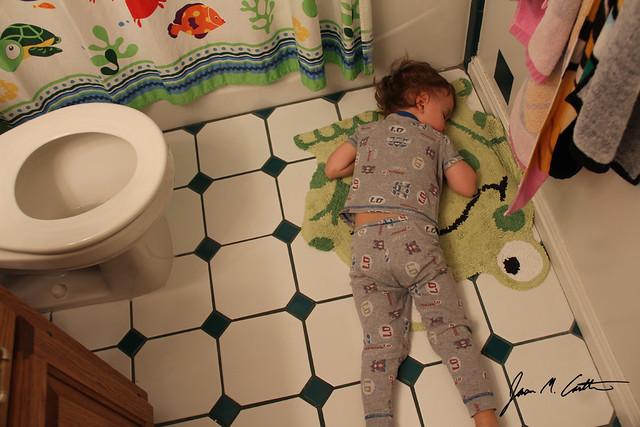 030812 Sleeping with Froggy