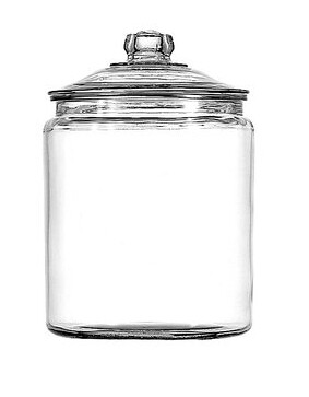 Jar with lid at Walmart. Under $10