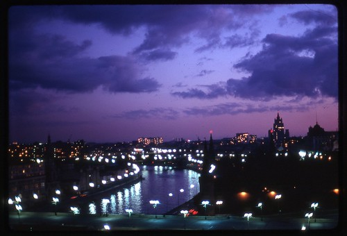 Kremlin and Moscow River at Dusk, Moscow, 1969