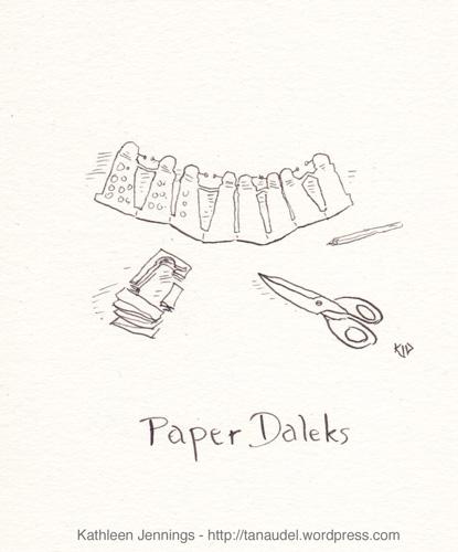 Paper Daleks