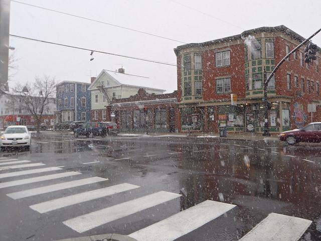 Broadway & Tobey Street, Snowy February 29, 2012