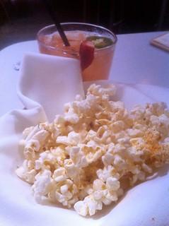 Strawberry Jalapeno Margarita and Truffled Popcorn from Sidecar