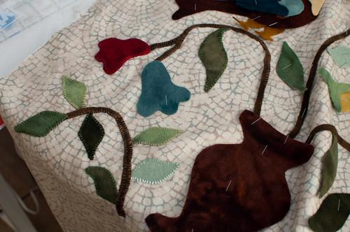Wool Applique - Mary Ellen's Garden by Lori Smith
