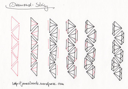 How to draw a diamond string