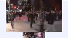 Montreal Student Protest Apr 27 LIVE Google+ Hangout On Air - pix 04