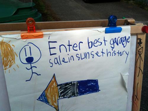Enter best garage sale in sunset history