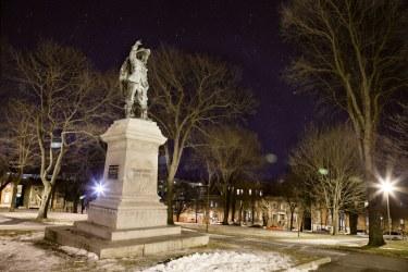 Saint John : Queen's Square Park at Night