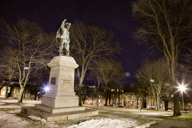 Saint John : Queen's Square Park at Night