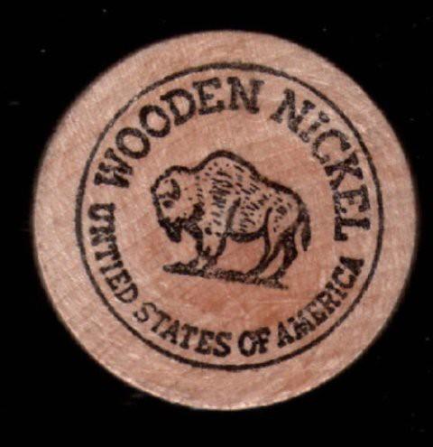 Suffolk Downs 1975 Wooden Nickel