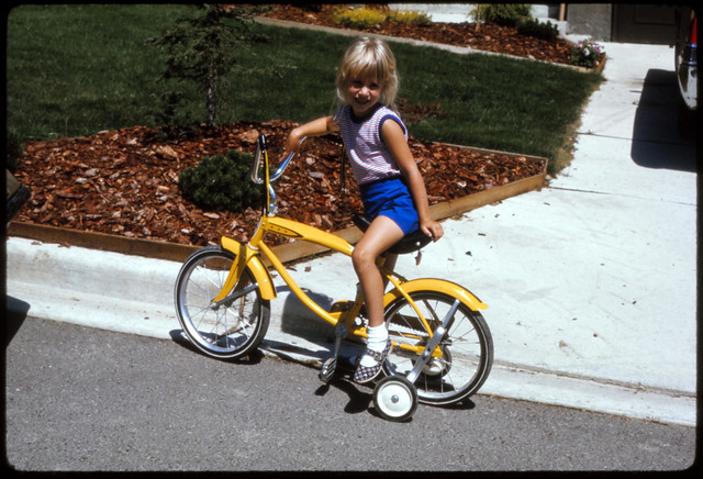 A Girl and Her Bike - Summer 1970