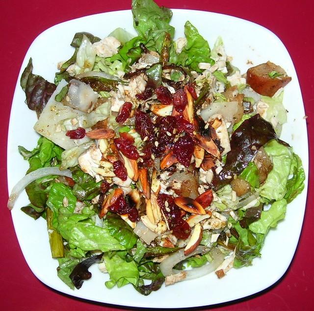 Roasted Asparagus & Pear Salad
