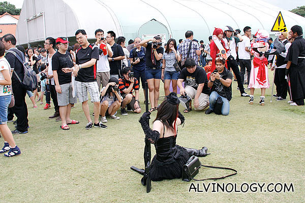 Photographers were as many as cosplayers
