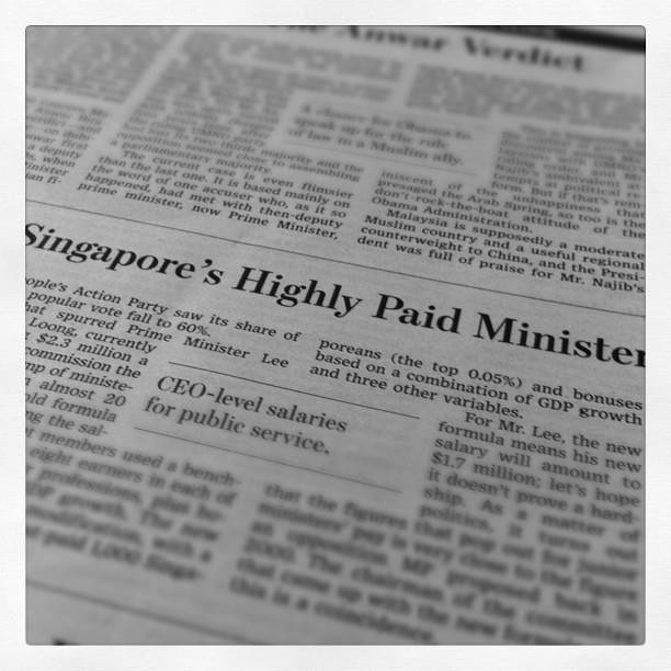 9 Jan - Saw this shameful news article on Singapore in a foreign newspaper in Manila