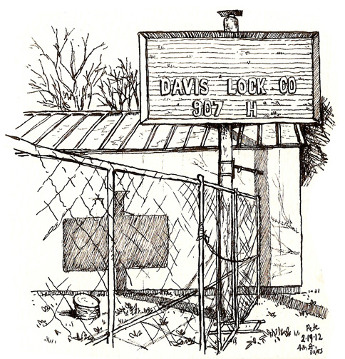davis locksmiths, now gone