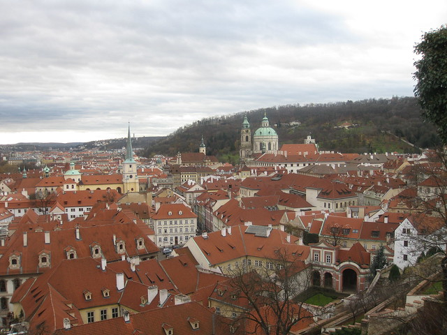 Saint Nicolas church and the rooftops of Malá Strana