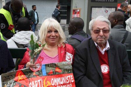 10e01 Manifa 1o Mayo velos y color196 simpatizantes comunistas