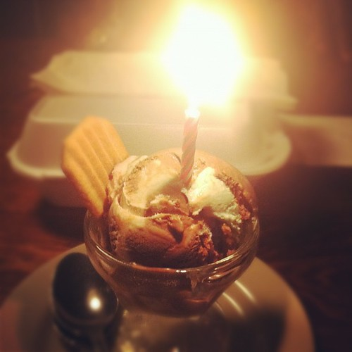 Birthday ice cream