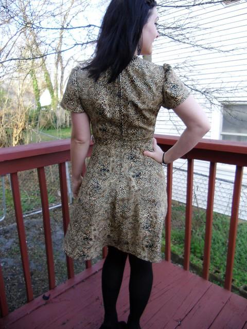 Cheetah Wrap Dress