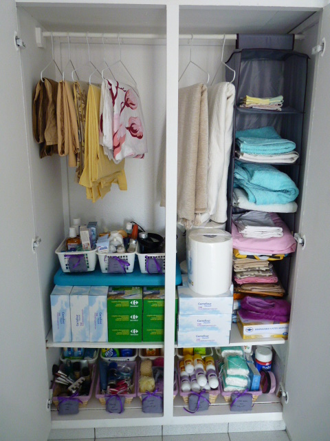 linen closet makeover | homeingreece