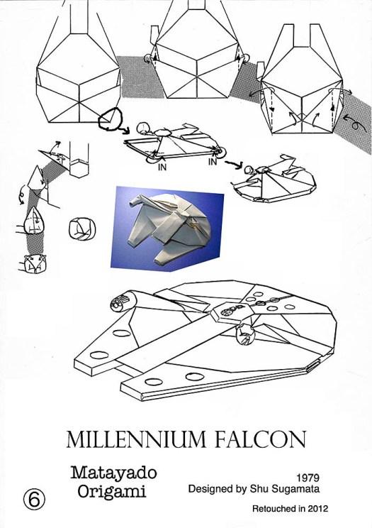 origami millennium falcon easy