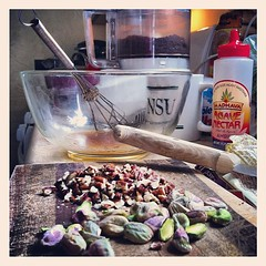 """The kitchen becomes a lab; trying for a """"non-cheat"""" cookie."""