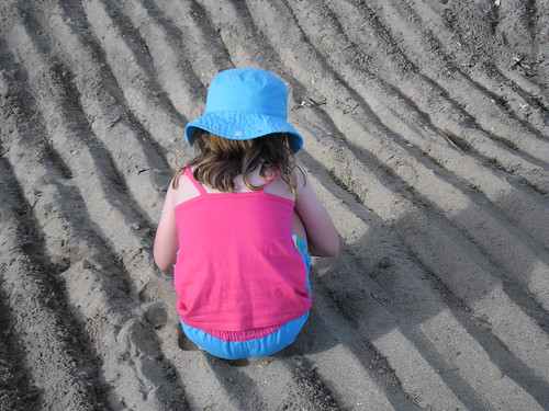 Miss OWW in the sand