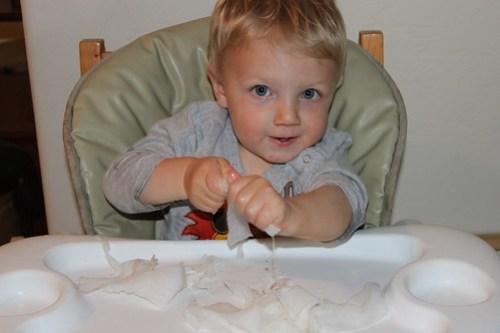 Tearing Paper Towels