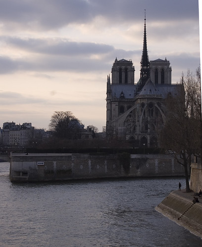 Sunset over Notre Dame