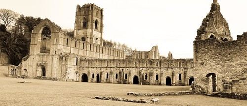 Fountains Abbey panorama