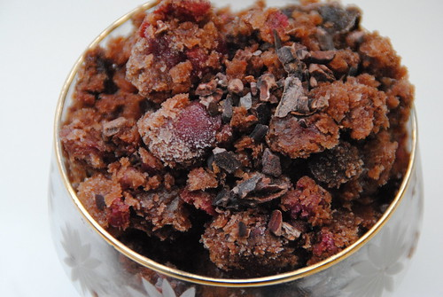 chocolate cherry granita