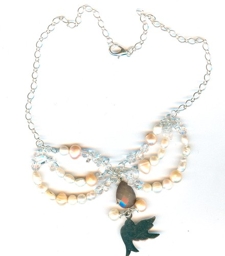 genuine baroque pearl and dove necklace by alice stories