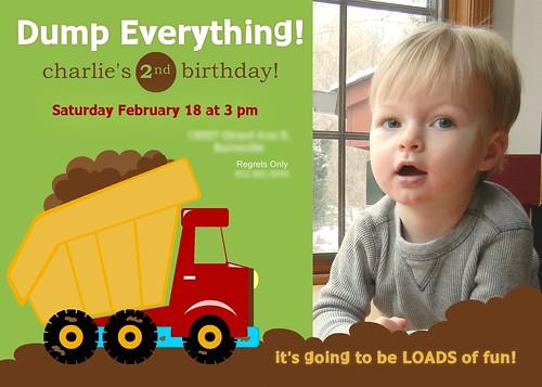 Charlie 2nd Birthday Invite